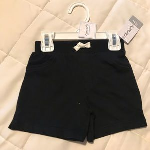 Carters Black drawstring shorts